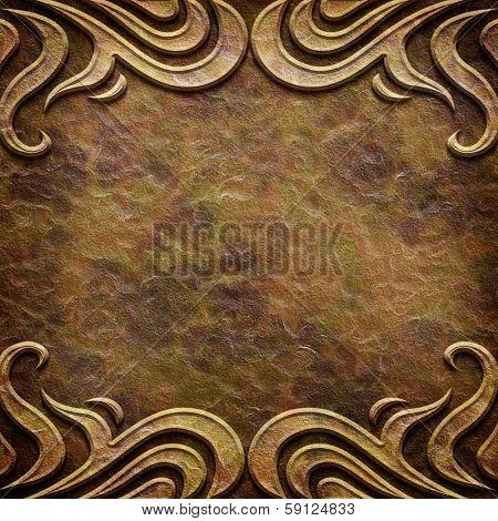 Art Deco pattern on paper backgrond