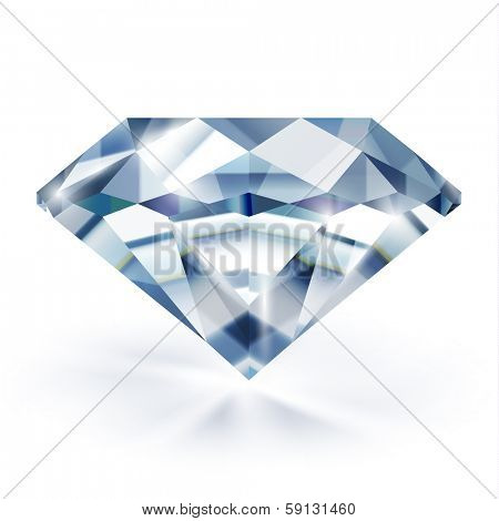 Diamond isolated on white - raster version
