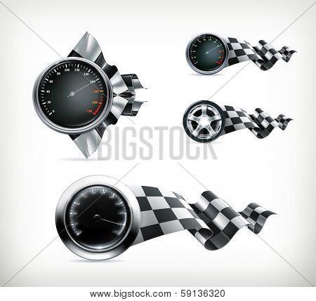Racing emblems, bitmap copy