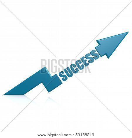 Success Arrow Up Blue