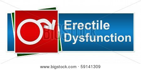 Erectile Dysfunction Blue Red Green Banner