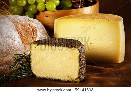 Still life image of natural cheese