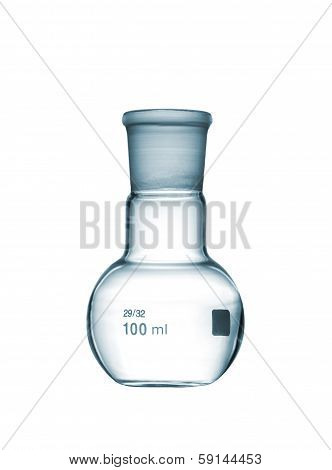 Flat-bottomed Flask Isolated On A White Background