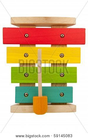 Kid Xylophone Isolated On White