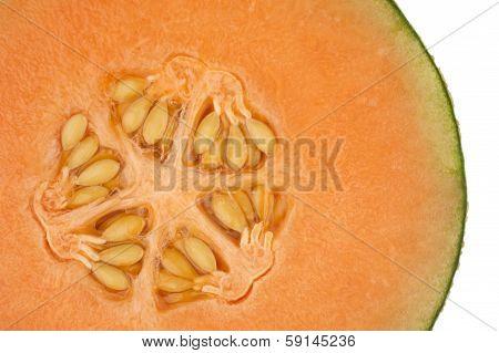 Honeydew Melon In Close Up