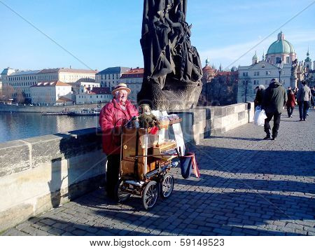 Organist On Charles Bridge