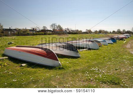 Overturned boats