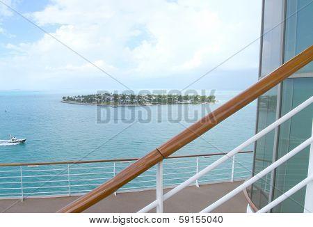 Cruise ship deck scenery