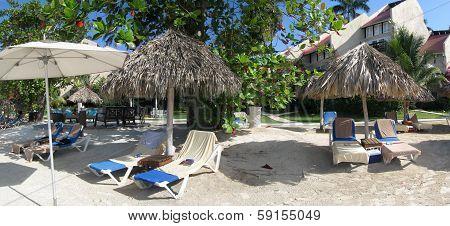 Beach holiday panorama