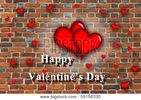 Hearts With Inspiration Happy Valentine's Day