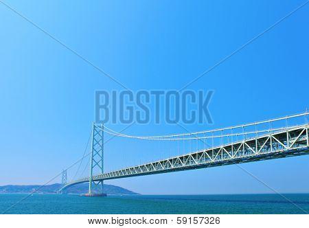 Akashi Kaikyo Bridge in kobe