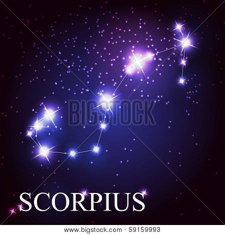 Scorpius zodiac sign of the beautiful bright stars