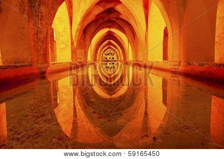 Baths Banos Of Dona Maria De Padilla Alcazar Royal Palace Seville Spain
