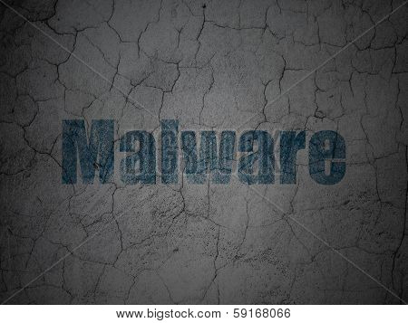Security concept: Malware on grunge wall background