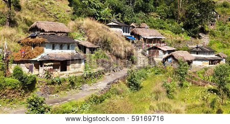 Beautiful Village In Western Nepal