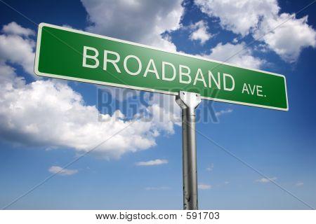 Concepto de banda ancha Avenida