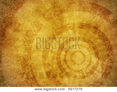 Grunge Background Texture With Concentric Circles
