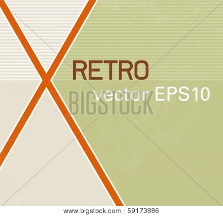 Background design with abstract cross mark - retro style
