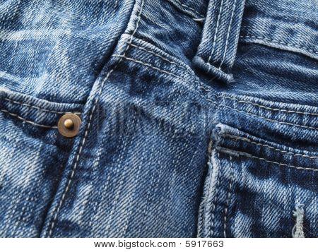 Blue Jean Material Closeup