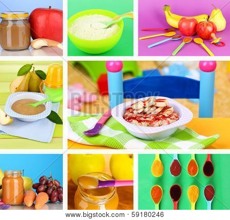 Baby food collage