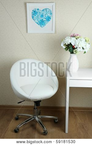 Room interior with picture on wall