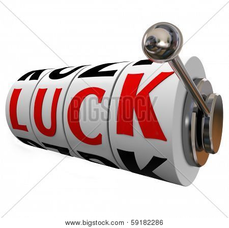 Luck Word Slot Machine Dials Lucky WInner