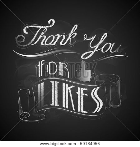 illustration of thank you for likes background