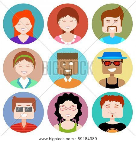 illustration of flat design people icon