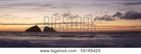 Sunset At Holywell Bay, Newquay Uk