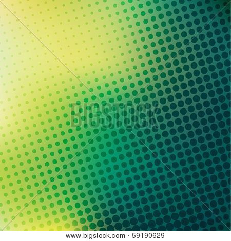 abstract green yellow halftone background