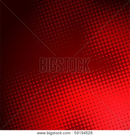 abstract red halftone background design stock vector