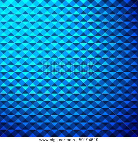creative blue triangle pattern background stock vector