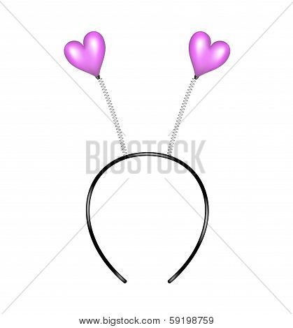 Headband with purple hearts