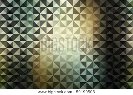 creative retro triangle pattern background vector