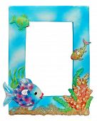 stock photo of dtp  - Photo of cool fishy photoframe  - JPG