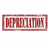 foto of depreciation  - Grunge rubber stamp with text Depreciation - JPG