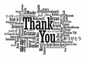 stock photo of thankful  - Thank You Word Cloud in vector format - JPG