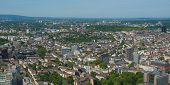 stock photo of frankfurt am main  - Aerial view of the city of Frankfurt am Main in Germany  - JPG