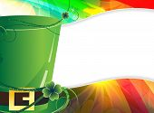 Leprechaun Hat  And  Rainbow Background