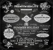image of bon voyage  - Retro elements for Summer calligraphic designs  - JPG