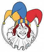 image of jestering  - Jester face in a circle - JPG