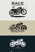image of motorcycle  - illustration sketch motorcycle with wording 2 - JPG