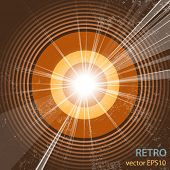 stock photo of starburst  - Retro music background  - JPG