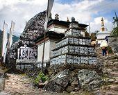stock photo of sherpa  - Prayer walls  - JPG