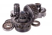 stock photo of friction  - Automotive transmission gears - JPG