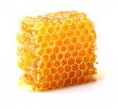 foto of honeycomb  - Honeycomb in closeup - JPG