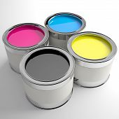Four Cans Of Paint