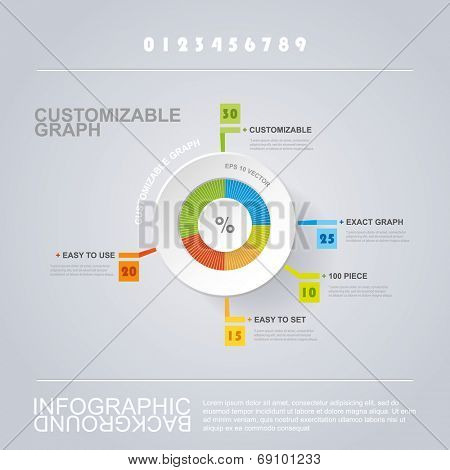 Customizable Circle Infographic Design with Pie Chart