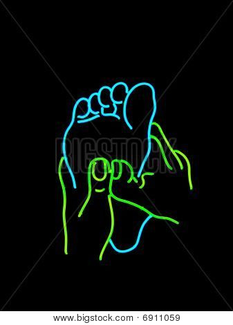 Neon Foot Massage Sign