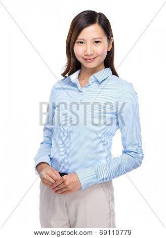 Asian businesswoman portarit on white background